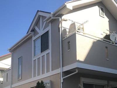 相模原市南区東林間にて、サーモアイSiによる屋根塗装工事とパーフェクトトップによる外壁塗装を行いました、施工後写真