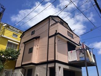 大和市築14年の屋根外壁塗装ファインシリコンフレッシュとサーモアイ4F、施工後写真