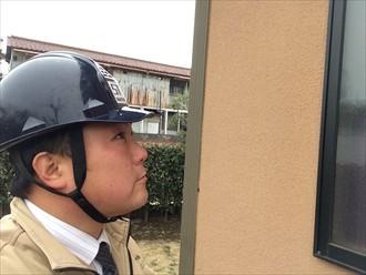横浜市磯子区リシン吹付け仕上げのサイディング継ぎ目に入る亀裂