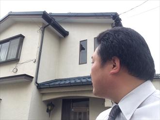 横浜市栄区過去に1度外壁塗装を行ったお宅の塗り替え調査