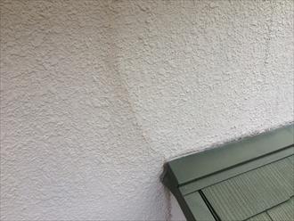 横浜市都筑区のモルタルを使用している外壁(モルタル壁)の調査、亀裂やひび割れは雨漏りの危険性があります1