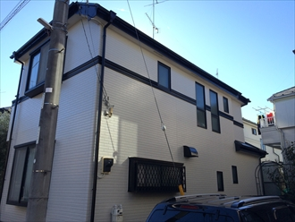 パーフェクトシリーズを使用した屋根外壁のメンテナンス|横浜市南区、施工後写真