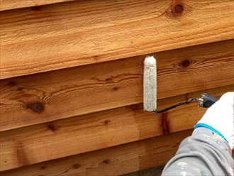 木塗装2回目