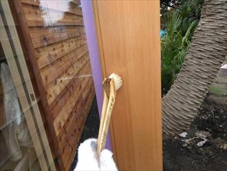 木塗装 扉枠