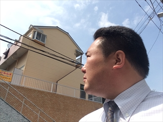 横浜市磯子区アパート共用部のサイディングや鉄部の劣化
