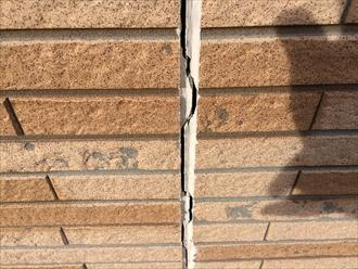 相模原市中央区のサイディング住宅を外壁調査でシールの劣化