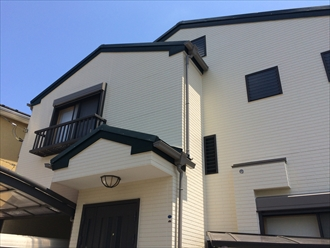 横浜市金沢区で塗り替えサイクルが長く費用の削減も可能なプレミアムシリコン(SR-111)を使用した外壁塗装、施工後写真