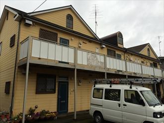 茅ヶ崎市屋根用遮熱塗料と外壁用アクリルシリコン塗料で塗装、施工前写真
