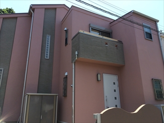 既存のタイルに合わせた色で外壁をイメージチェンジ|横浜市瀬谷区、施工後写真