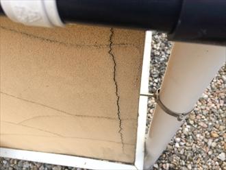 横浜市戸塚区戸塚町でジョリパット仕上げの外壁点検、ひび割れが複数確認されました