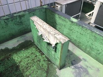 防水層の捲れた架台