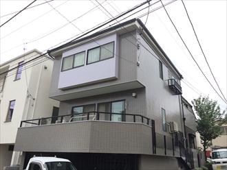 藤沢市築18年モルタル壁とタイル壁の外壁塗装とスレート屋根塗装、施工後写真