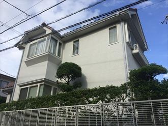 横浜市中区で2回目の外壁塗装、パーフェクトトップで艶やかに仕上げました、施工後写真
