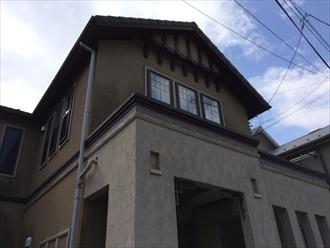 茅ヶ崎市築13年の外壁意匠の多い住宅を塗り替え調査