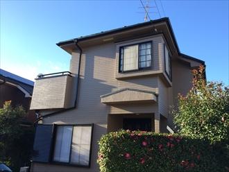 横浜市戸塚区下倉田町でエスケープレミアムシリコン(SR-132)で外壁塗装、外観を大きくイメージチェンジ、施工後写真