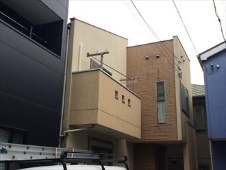 パーフェクトトップで既存の柄を残しつつ綺麗に塗り替え|横浜市栄区、施工前写真