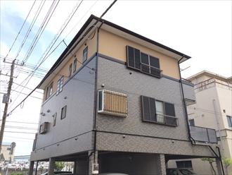横浜市港南区外壁はファイングラシィSiとエラストコートで屋根はサーモアイ4F、施工後写真