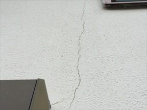 モルタル壁亀裂③拡大