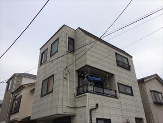 藤沢市築23年のALC住宅を外壁塗り替え調査