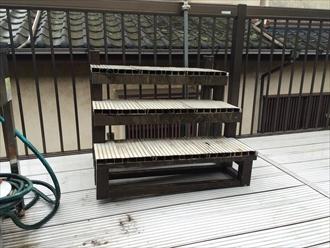 防水工事の障害となる階段も街の外壁塗装やさん横浜店が取り外します③