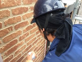 外壁の傷み再確認