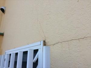 モルタル壁亀裂②