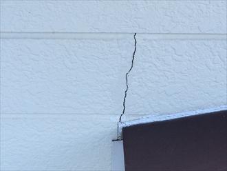 相模原市中央区の外壁塗装コーキング劣化とサイディング亀裂