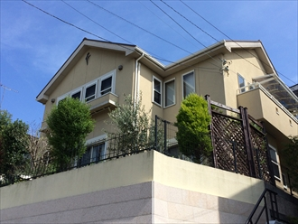 藤沢市築12年の耐火ボードサイディング住宅を塗り替え調査