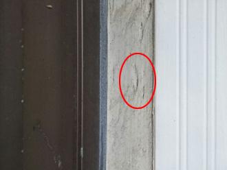 横浜市保土ケ谷区 外壁塗装前の点検 コーキングの弾力がなくなってる