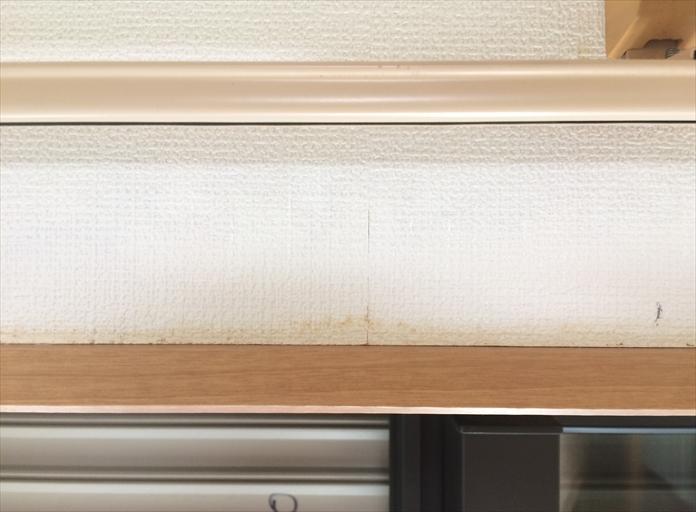 横浜市戸塚区でモルタル壁の外壁調査、亀裂の発生は雨漏り危険性3