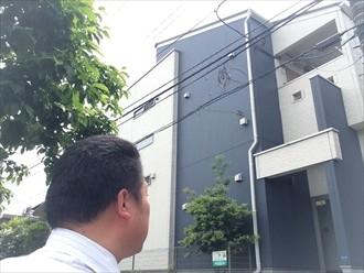横浜市西区アパート鉄部の傷み色々なところが劣化します