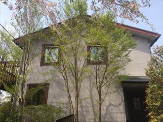 湘南地区藤沢市築18年のサイディング住宅を塗り替え調査