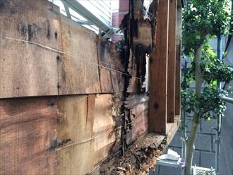 茅ヶ崎市塗り替え調査で怪しかったバルコニーの解体と腐食