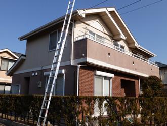屋根塗装。外壁塗装施工前