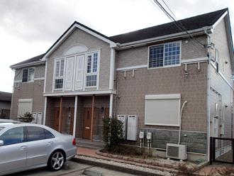 茅ヶ崎市でメゾネットタイプのアパート外壁塗装前の調査