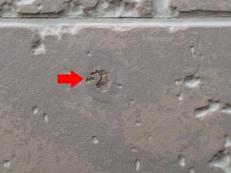 茅ヶ崎市 外壁塗装前の調査 サイディングボードが傷んでいる