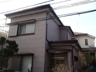 横浜市西区 外壁塗装が必要になったお住まいの調査