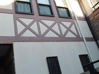 川崎市 点検調査 外壁、幕板の汚れ