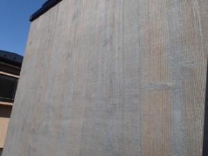 バルコニー木部の塗装