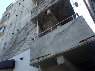 小田原市矢作で中古マンションの外壁塗装の事前点検