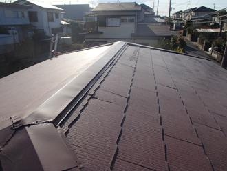茅ヶ崎市高田にて遮熱塗料であるサーモアイSiによる屋根塗装工事のご紹介、施工前写真