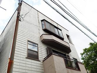 川崎市幸区塚越にて築19年になるALC外壁のお住まい、パーフェクトトップによる塗装工事を行いました、施工前写真