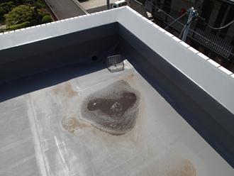 小田原市鴨宮で塩ビシート防水されたマンション屋上の雨漏り点検