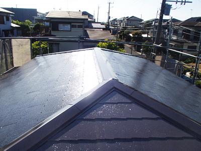 茅ヶ崎市高田にて遮熱塗料であるサーモアイSiによる屋根塗装工事のご紹介、施工後写真