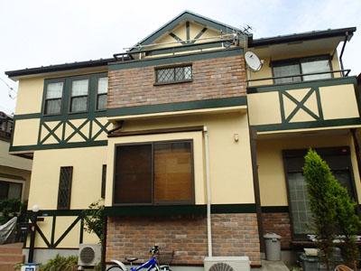 外壁と屋根、バルコニーの塗装工事 川崎市 施工後