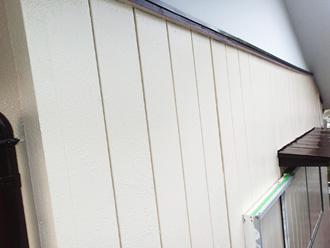 仕上げ塗装後のサイディング外壁
