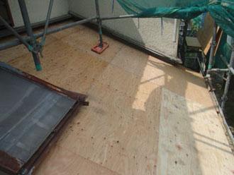 横浜市青葉区 屋根工事 野地板を張り増し