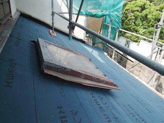 横浜市青葉区 屋根工事 防水紙設置
