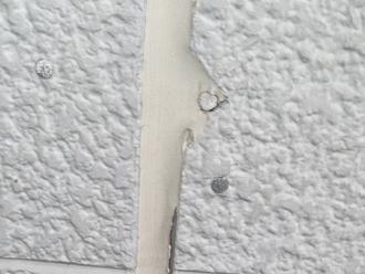 中井町田中で店舗を外壁塗装するための事前点検でチョーキングを確認