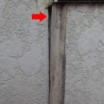 外壁塗装前の点検 コーキングが傷んでいる